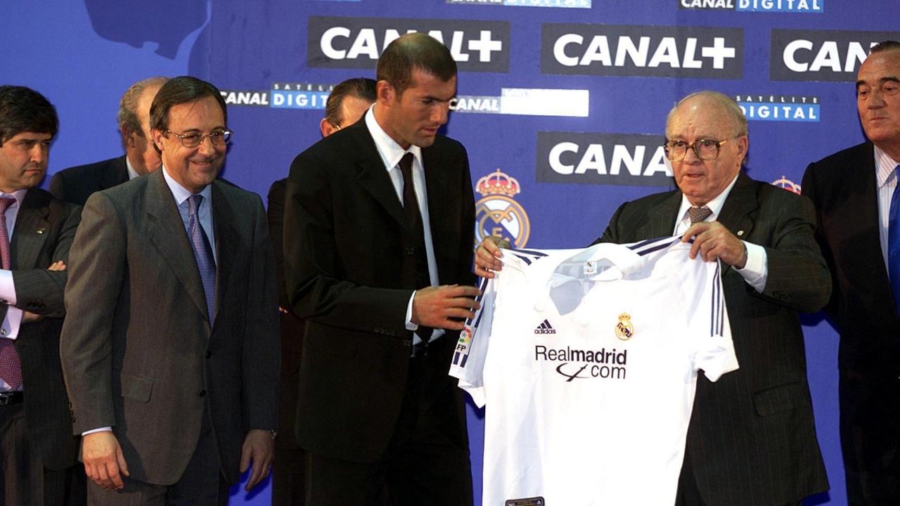 Zidane, en su presentación con el Real Madrid
