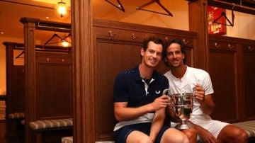 Andy Murray, con Feliciano López