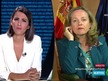 """Nadia Calviño: """"Vamos a implementar lo antes posible el ingreso mínimo vital"""""""