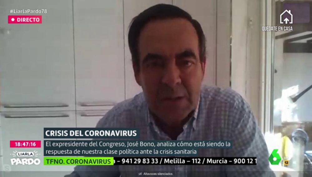 """José Bono: """"Si Abascal no coge el teléfono a Sánchez en estos momentos significa que no quiere a España"""""""