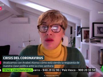 """Anabel Alonso, sobre la gestión de la crisis del coronavirus: """"La oposición no es que no aporte, es que pone trabas. Debe ser más constructiva"""""""