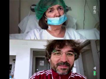 """El testimonio de una paciente de coronavirus que emociona a Évole: """"A mi hijo le dijeron que no salía de esta"""""""