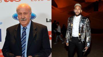 Del Bosque y Neymar Jr.