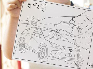 Dibujos para colorear en la plataforma de Lexus 'Desde casa, seguimos contigo'