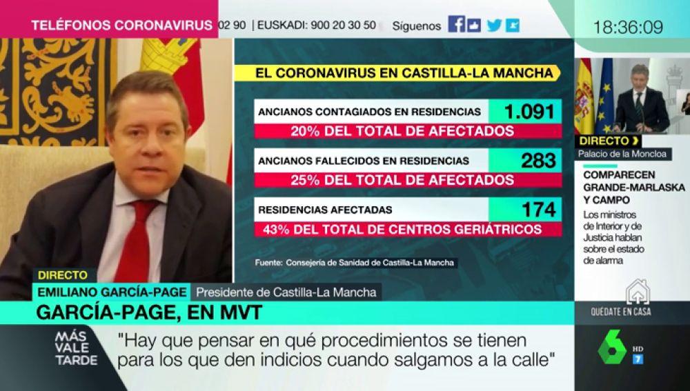 """García-Page: """"El que quiera hablar de éxito en la gestión de una crisis con miles de muertos se equivoca, es un fracaso siempre"""""""