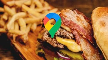 Comida a domicilio Google Maps