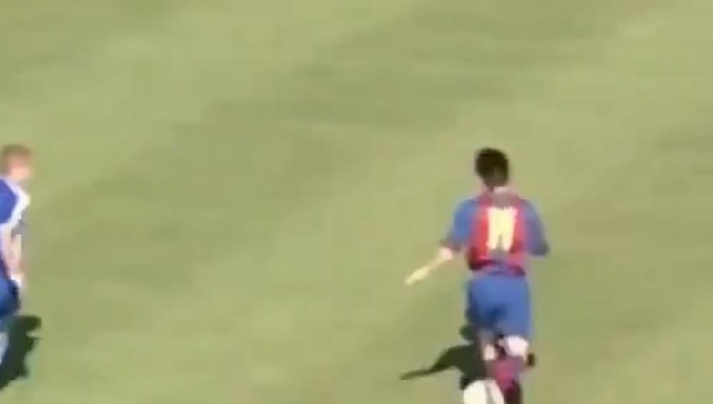 Leo Messi con 17 años.
