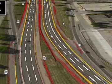 Mapa de una carretera