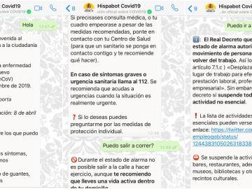 Así funciona el canal de Whatsapp sobre el coronavirus