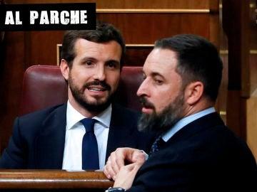 Casado y Abascal en el Congreso