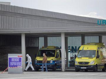 Entrada de urgencias en el hospital HULA de Lugo