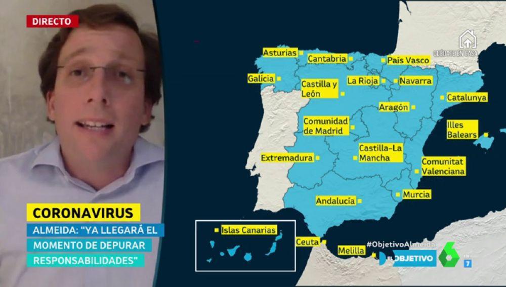 """Almeida defiende el tono conciliador entre partidos en la crisis del coronavirus: """"La oposición también quiere lo mejor"""""""