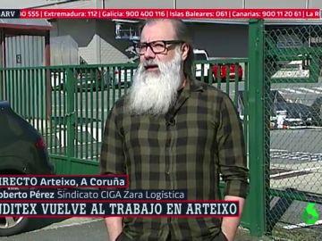 Roberto Pérez, del sidicato CIGA