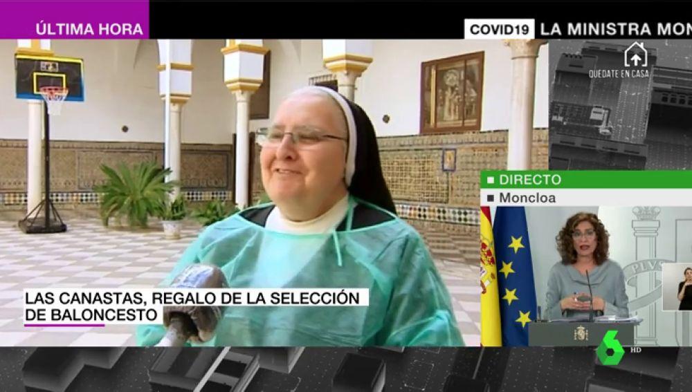 """Hablan las monjas de clausura que juegan al baloncesto en su convento: """"Eso no me lo quita nadie aunque tengo 80 años"""""""