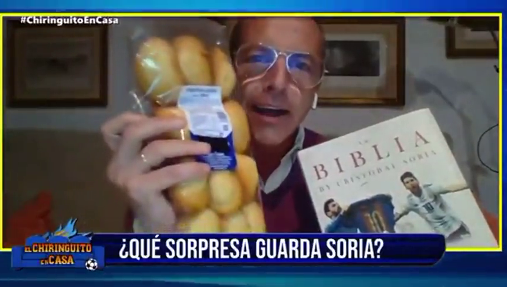 La última de Cristóbal Soria: galletas y magdalenas para Eden Hazard en directo