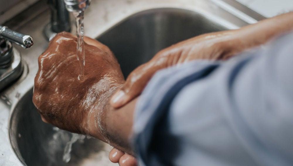 Lavando las manos