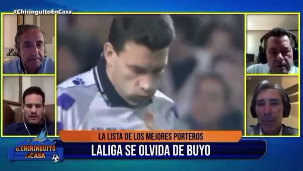 'El Chiringuito' alucina con que LaLiga no incluya a Paco Buyo entre sus 20 mejores porteros