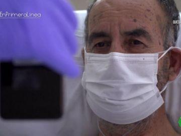 Un paciente ingresado con coronavirus