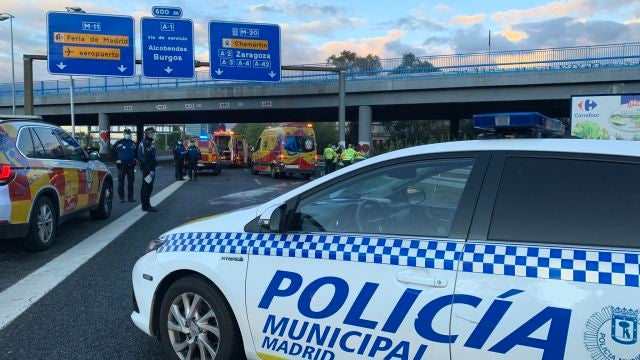 Los servicios de emergencias en el lugar del accidente