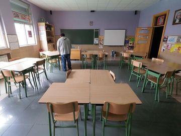 Aula vacía en un colegio