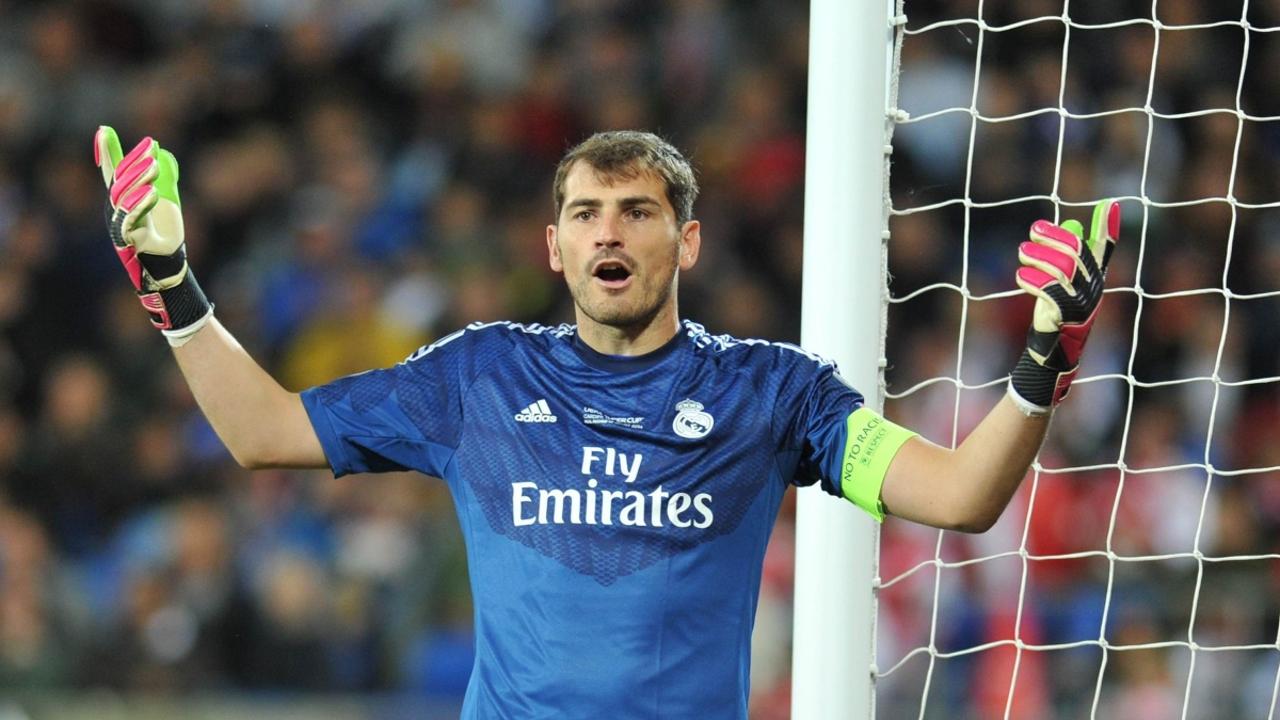 Iker Casillas, con el Real Madrid