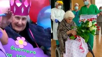 Imagen de varias ancianas que han superado el coronavirus