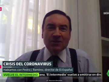 """Pedro J. Ramírez: """"Me preocupan los planes de Sánchez, hay mucho autoritarismo y poco conocimiento"""""""