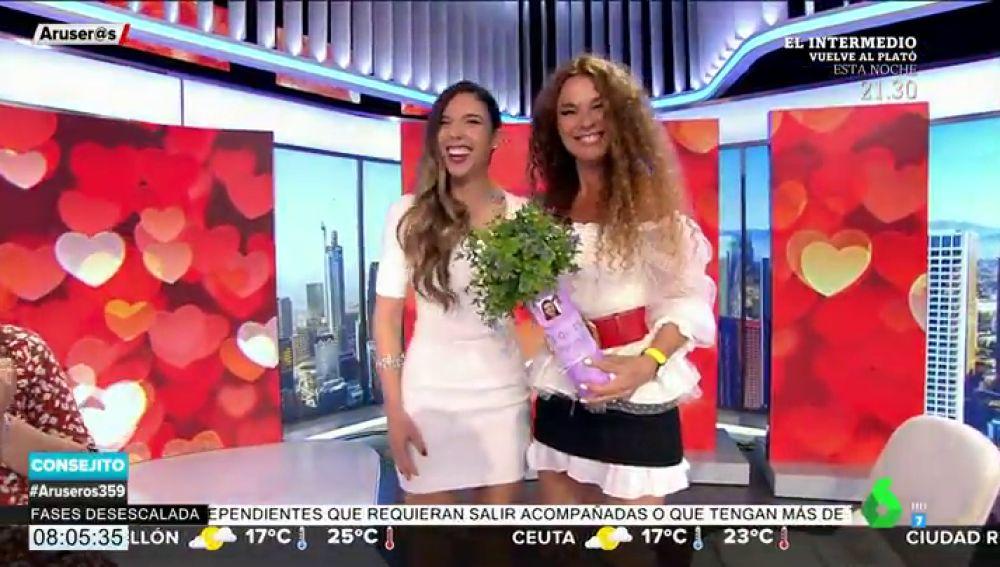 El momento más emotivo de Aruser@s: Tatiana Arús hace entrega a Angie Cárdenas de su regalo por el Día de la Madre