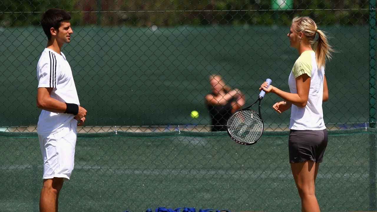 Novak Djokovic y Maria Sharapova