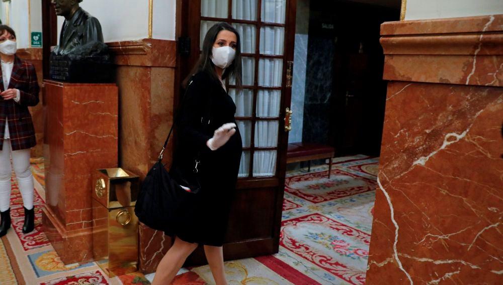 Inés Arrimadas, en el Congreso de los Diputados
