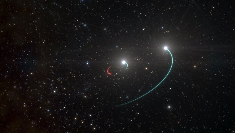 Primer sistema estelar con agujero negro que se ve a simple vista