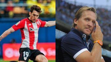 Ibai Gómez y Bernd Schuster