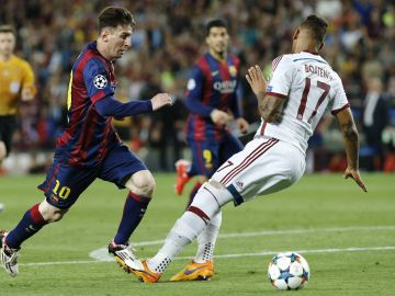 Leo Messi y Jerome Boateng
