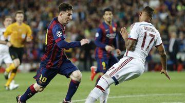 Leo Messi y Jerome Boateng
