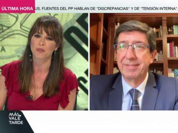 """Juan Marín: """"Pedro Sánchez tiene que saber que el estado de alarma no va a durar mucho más"""""""