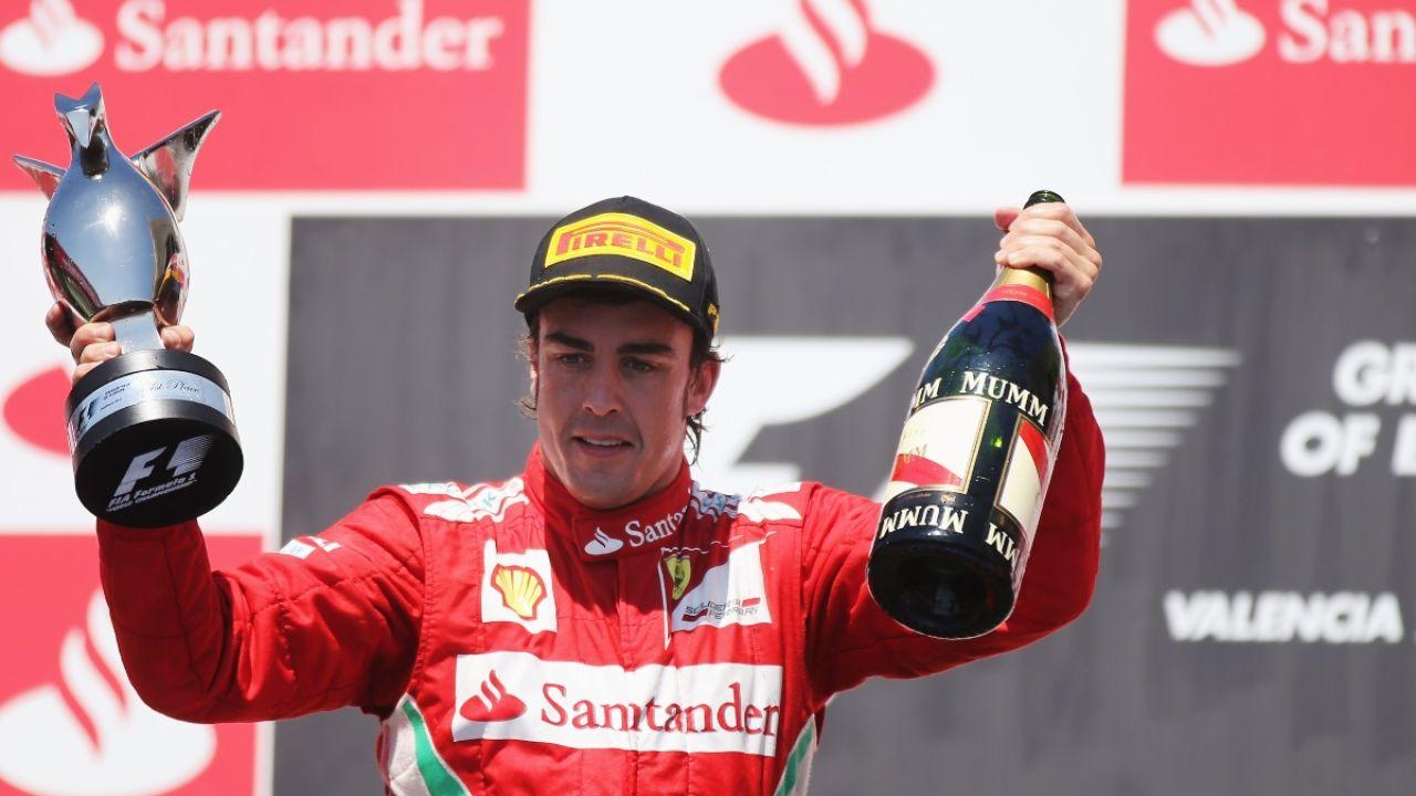 Fernando Alonso, en Valencia
