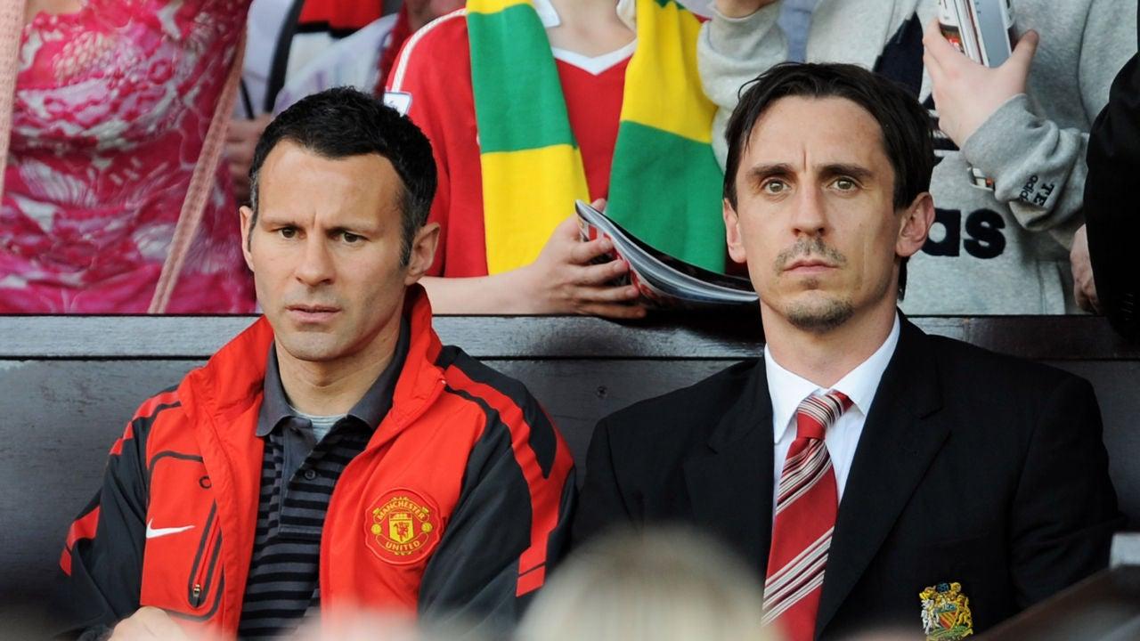 Ryan Giggs y Gary Neville