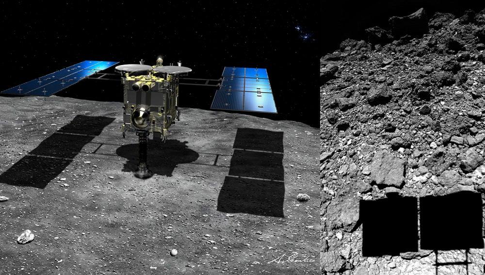 Haybusa 2 ofrece nuevos datos del asteroide donde recogio material