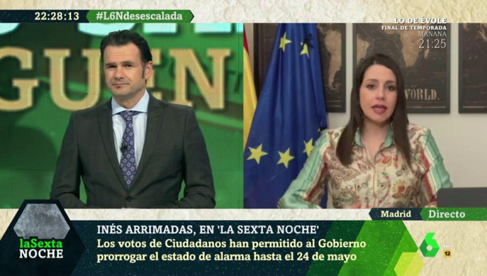 """Inés Arrimadas: """"Todo el mundo sabe lo que pienso del Gobierno, intenté evitar que se formara"""""""