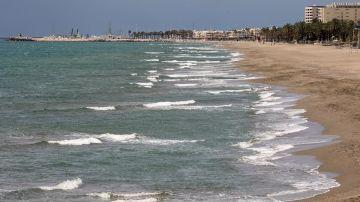 Vista de la playa de La Carihuela de Torremolinos