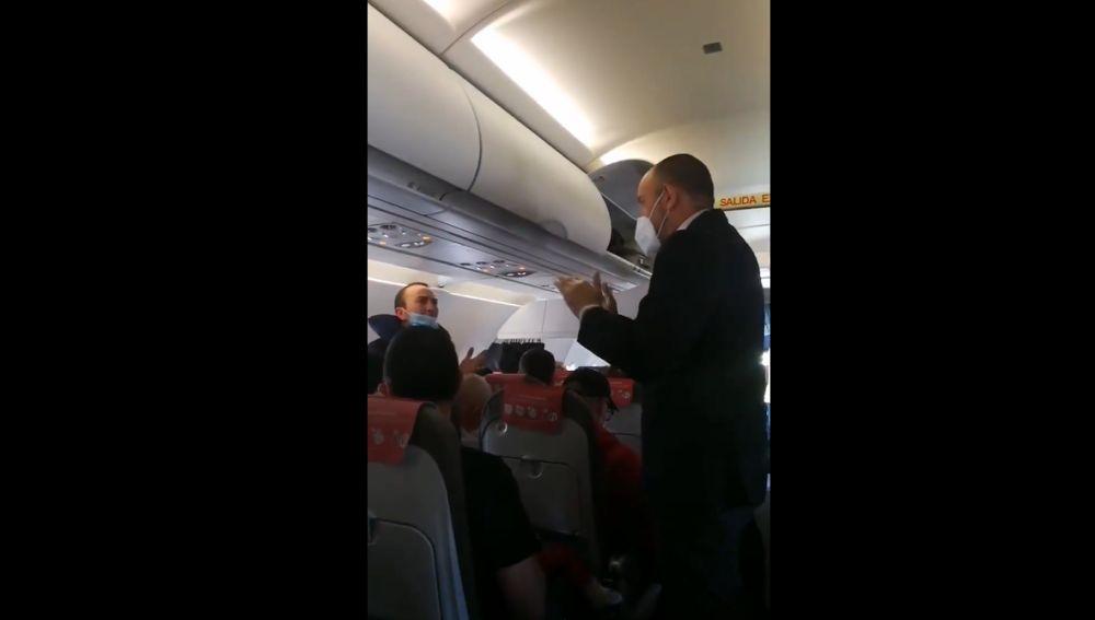 Tensión en un vuelo Madrid-Gran Canaria