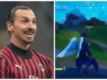 Ibrahimovic y un pantallazo de su partida a Fortnite