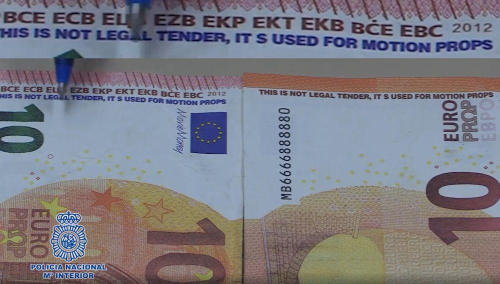 Los nuevos billetes falsos que están circulando por España