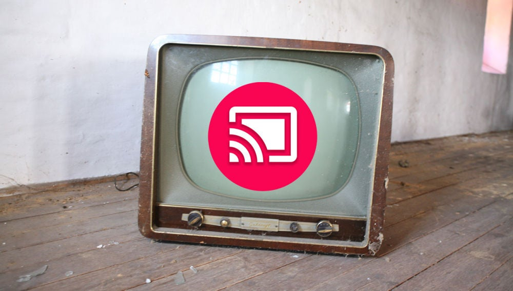 Televisor con icono de Chromecast