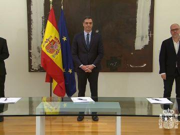 Firma del pacto para prorrogar los ERTE