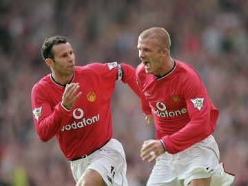 Ryan Giggs y David Beckham