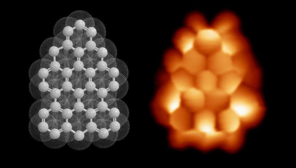 Descubierto el magnetismo de un nanocopo de grafeno
