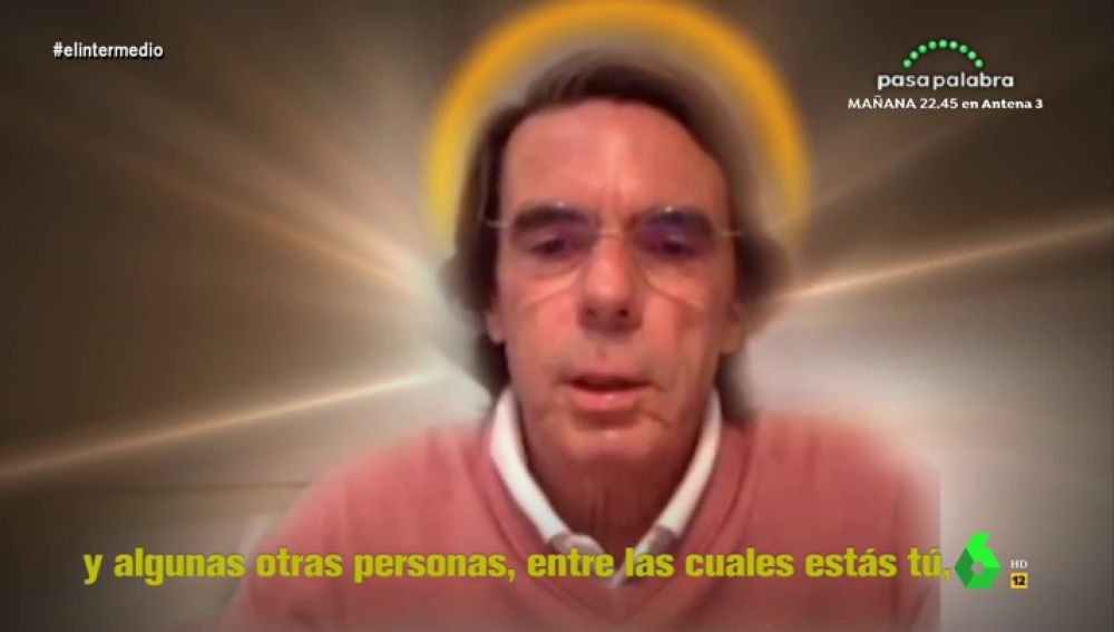 """El 'Aznarísimo' defiende en El Intermedio la """"sabia palabra de 'santa Isabel, la virgen de los concebidos no nacidos'"""
