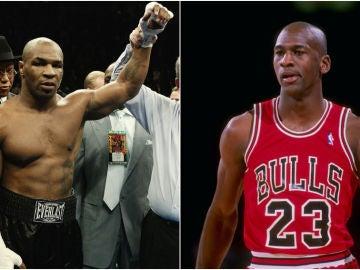 Mike Tyson y Michael Jordan