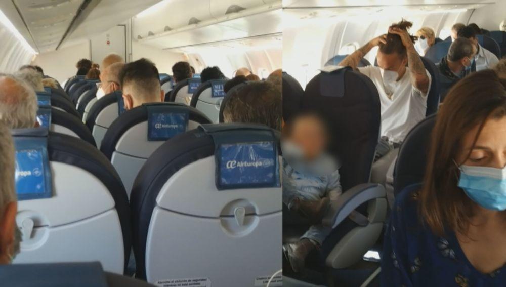 Vuelo Ibiza-Palma de Air Europa sin respetar distancia de seguridad